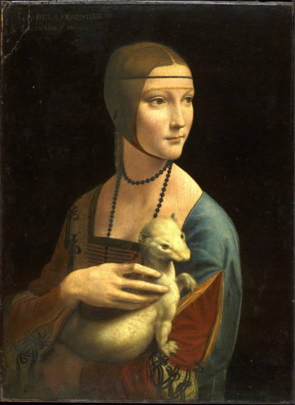 Leonardo Da Vinci: Portrait of Cecilia Gallerani (Lady with the Ermine), about 1488