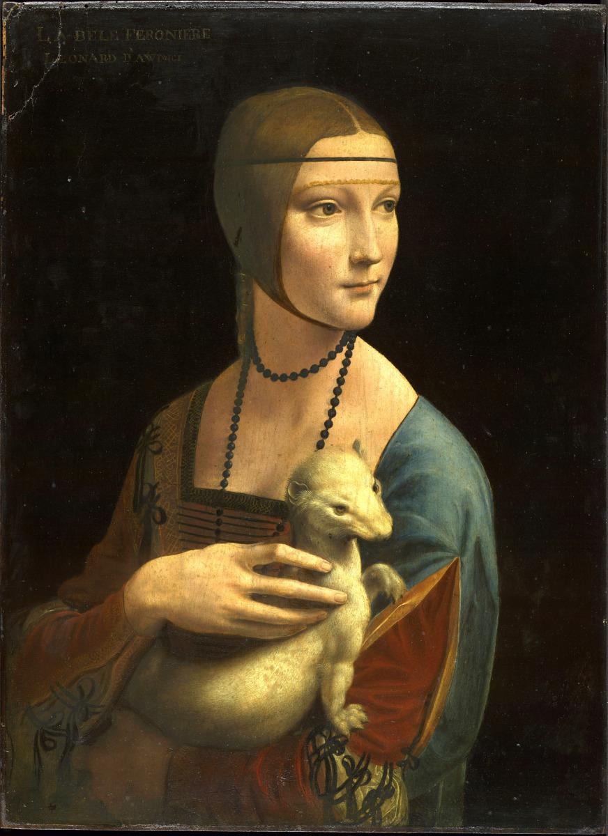 Leonardo Da Vinci: Portrait of Cecilia Gallerani (Lady with the Ermine), about 1488