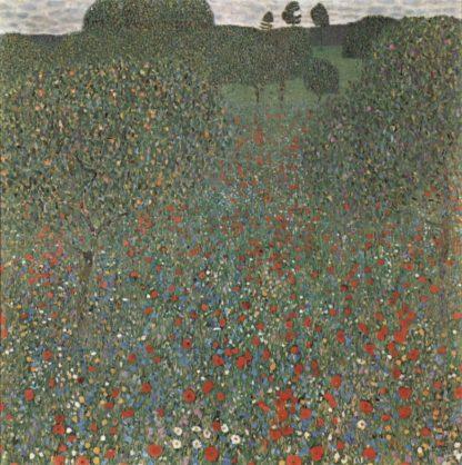 Klimt poppy field