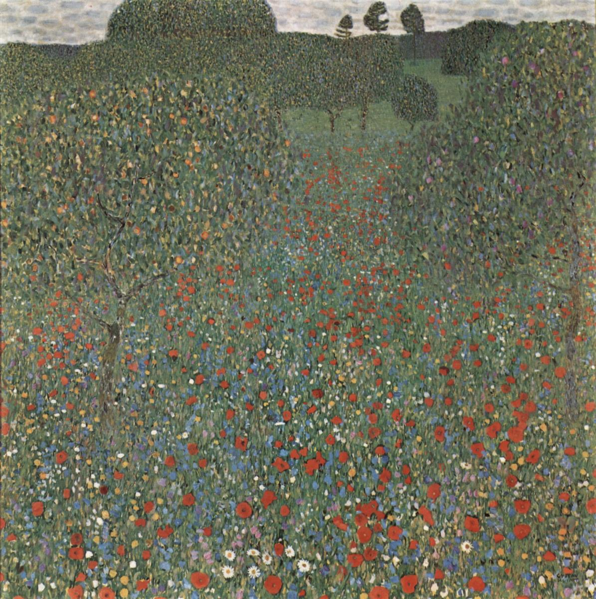 Klimt poppy field
