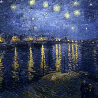 Van Gogh, Notte stellata sul Rodano, 1888