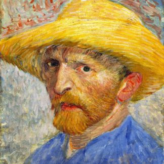 Van Gogh: Selfportrait with straw hat