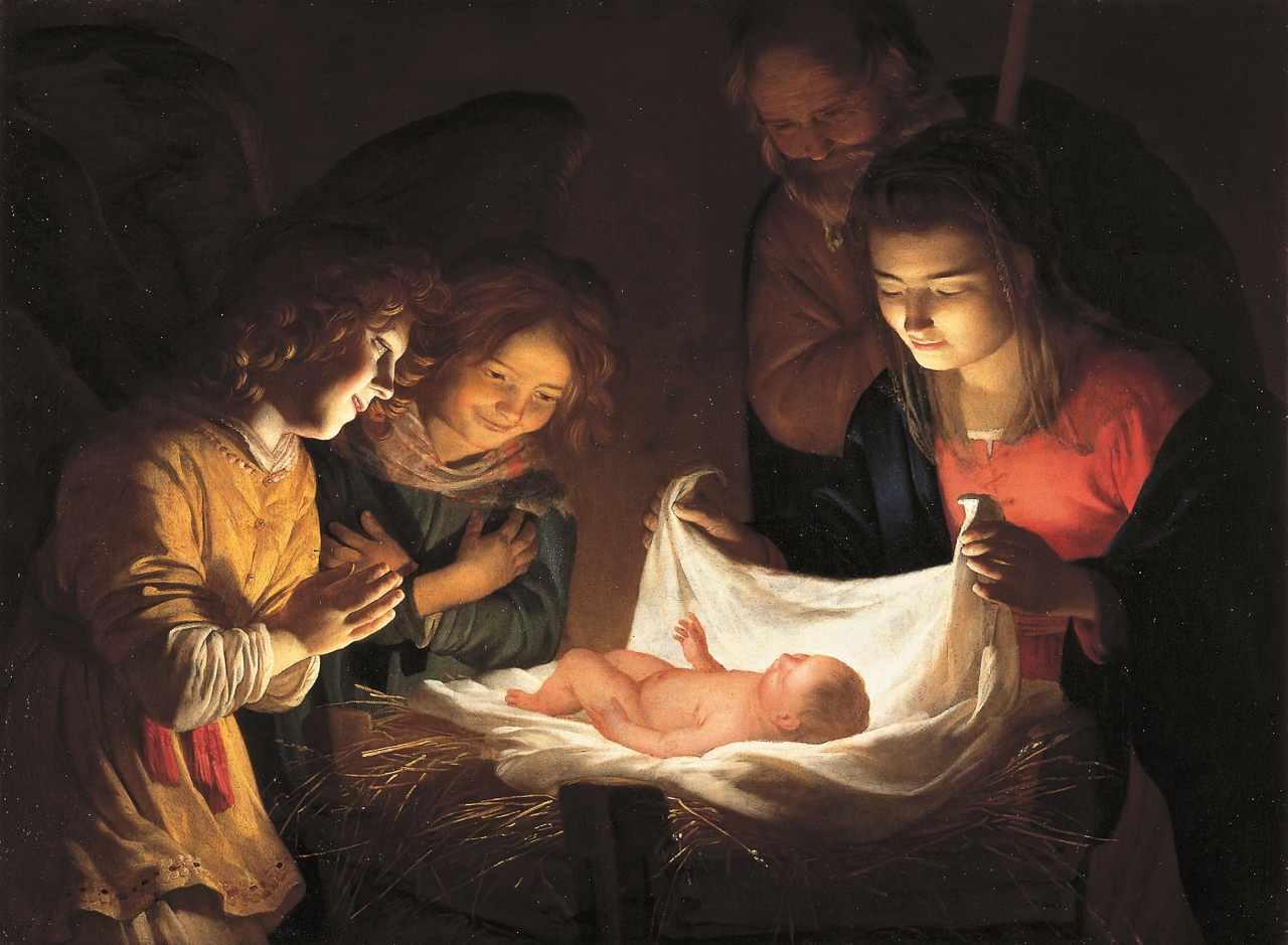 Gherardo Delle Notti, Adorazione del bambino. Uffizi (Firenze)